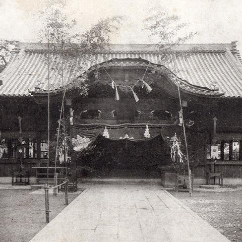 昔の岡山神社  / <small>Photo: 不明</small>